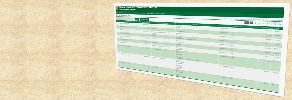 SIPP Sistem Informasi Penelusuran Perkara